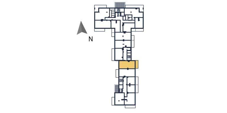 nowe mieszkania rzeszów - rzut kondygnacji z zaznaczonym mieszkaniem a76