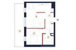 nowe mieszkania rzeszów - rzut mieszkania a77
