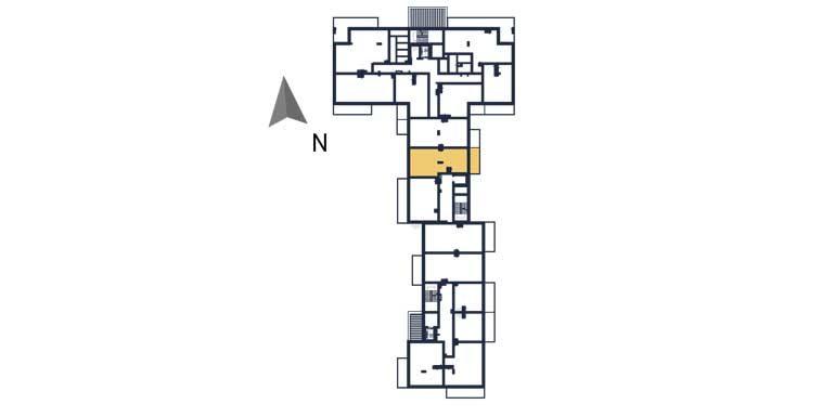 nowe mieszkania rzeszów - rzut kondygnacji z zaznaczonym mieszkaniem a78