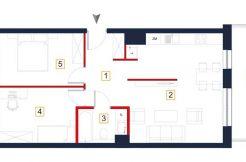 deweloperskie mieszkania rzeszów - rzut mieszkania a79