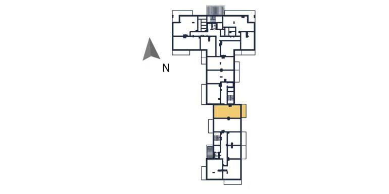 deweloperskie mieszkania rzeszów - rzut kondygnacji z zaznaczonym mieszkaniem a79