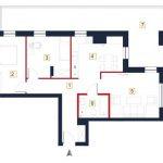nowe mieszkania rzeszów - rzut mieszkania a8
