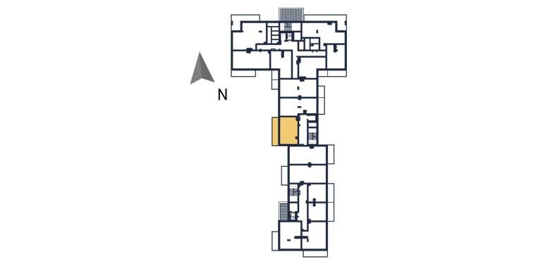 deweloperskie mieszkania rzeszów - rzut kondygnacji z zaznaczonym mieszkaniem  a80