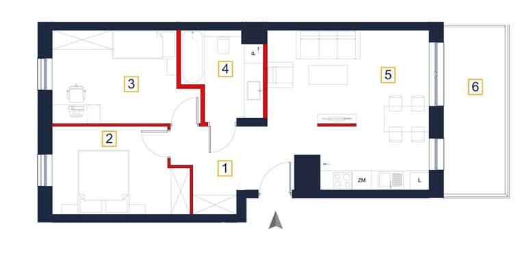 deweloperskie mieszkania rzeszów - rzut mieszkania  a81