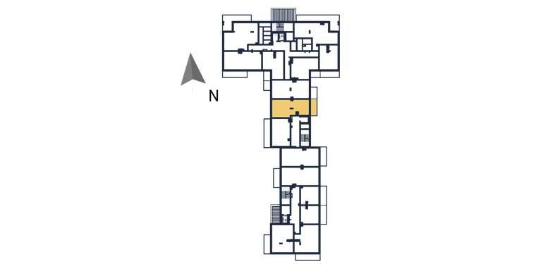 deweloperskie mieszkania rzeszów - rzut kondygnacji z zaznaczonym mieszkaniem  a81