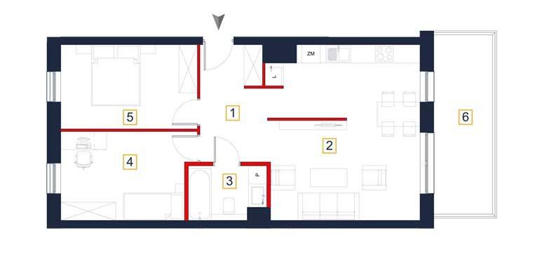 sprzedaż mieszkań rzeszów - rzut mieszkania  a82