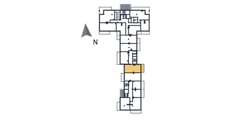 sprzedaż mieszkań rzeszów - rzut kondygnacji z zaznaczonym mieszkaniem  a82