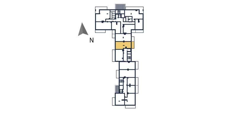 sprzedaż mieszkań rzeszów - rzut kondygnacji z zaznaczonym mieszkaniem  a84