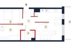 sprzedaż mieszkań rzeszów - rzut mieszkania a85