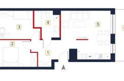 sprzedaż mieszkań rzeszów - rzut mieszkania a81