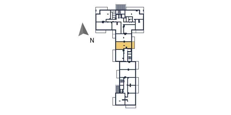 sprzedaż mieszkań rzeszów - rzut kondygnacji z zaznaczonym mieszkaniem  a87