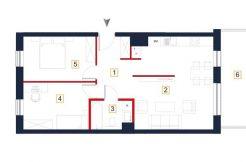 sprzedaż mieszkań rzeszów - rzut mieszkania a88