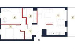 sprzedaż mieszkań rzeszów - rzut mieszkania a93