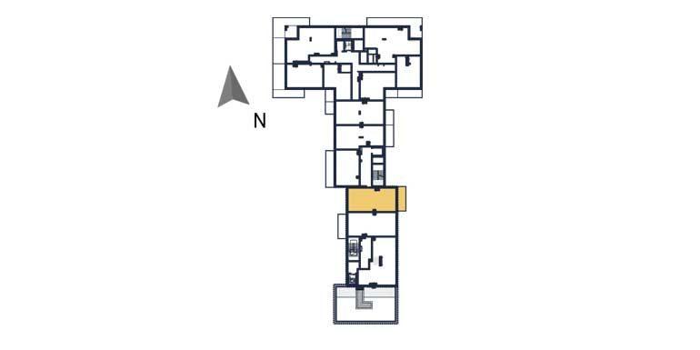 sprzedaż mieszkań rzeszów - rzut kondygnacji z zaznaczonym mieszkaniem  a94