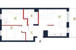 sprzedaż mieszkań rzeszów - rzut mieszkania a96
