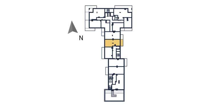 sprzedaż mieszkań rzeszów - rzut kondygnacji z zaznaczonym mieszkaniem  a96