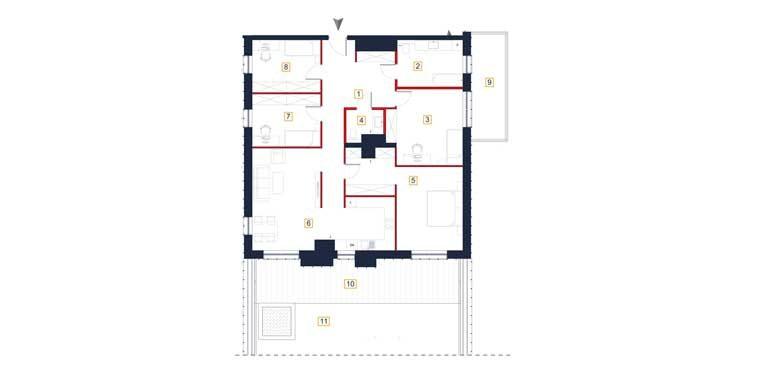 sprzedaż mieszkań rzeszów - rzut mieszkania  a97