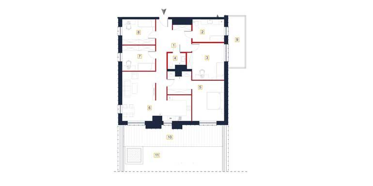 Mieszkanie – 5 pokoi – taras – balkon -133,51 m<sup>2</sup> – Rzeszów