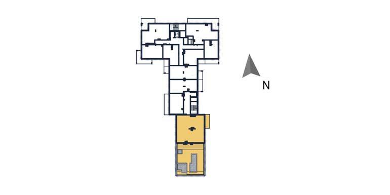 sprzedaż mieszkań rzeszów - rzut kondygnacji z zaznaczonym mieszkaniem  a97
