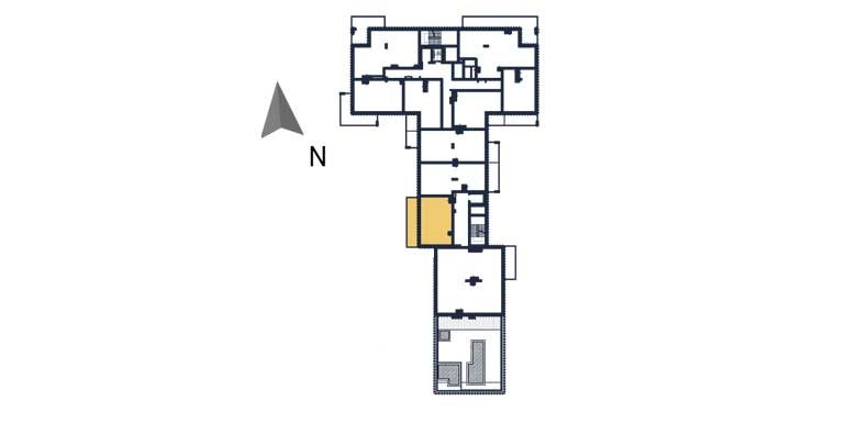 sprzedaż mieszkań rzeszów - rzut kondygnacji z zaznaczonym mieszkaniem  a98