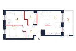 sprzedaż mieszkań rzeszów - rzut mieszkania a99