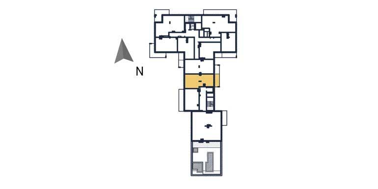 sprzedaż mieszkań rzeszów - rzut kondygnacji z zaznaczonym mieszkaniem  a99