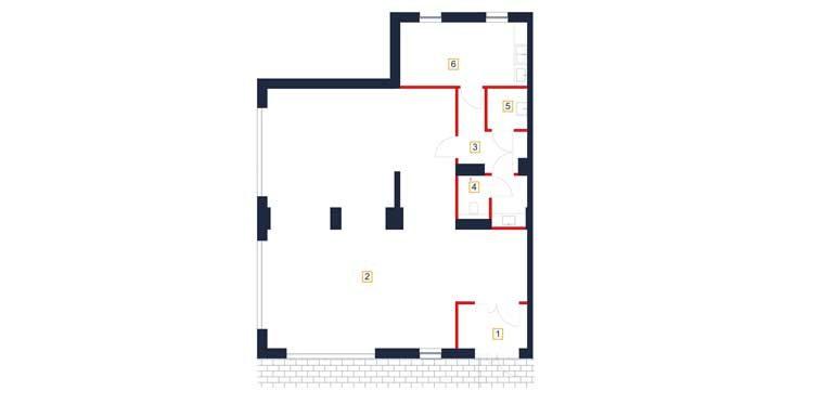 sprzedaż mieszkań rzeszów - rzut mieszkania  b1-m