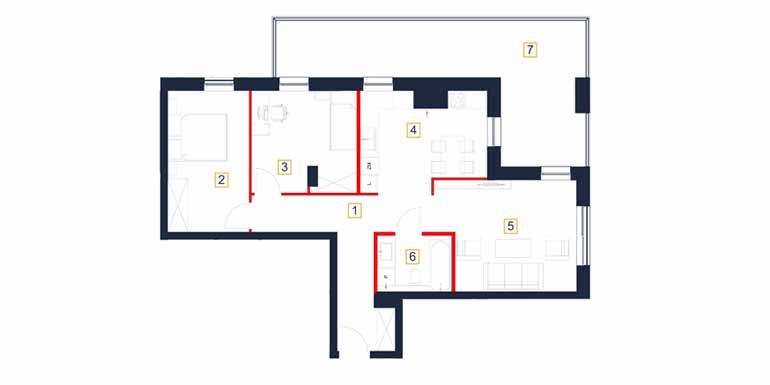 Mieszkanie – 1 pokój – loggia – 74,49 m<sup>2</sup> – Rzeszów