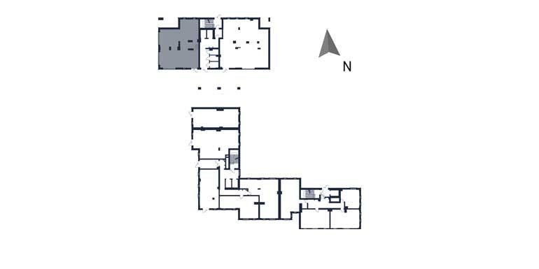 sprzedaż mieszkań rzeszów - rzut kondygnacji z zaznaczonym mieszkaniem  b1-rzut