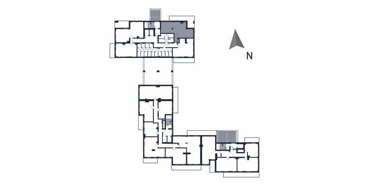 sprzedaż mieszkań rzeszów - rzut kondygnacji z zaznaczonym mieszkaniem  b1