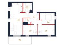mieszkania rzeszów - rzut mieszkania b100-m