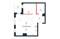 mieszkania rzeszów - rzut mieszkania b103-m