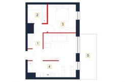 mieszkania rzeszów - rzut mieszkania b104-m