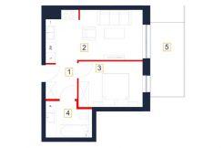 mieszkania rzeszów - rzut mieszkania b105-m