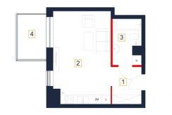mieszkania rzeszów - rzut mieszkania b107-m
