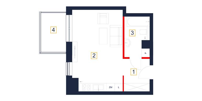 Mieszkanie – 1 pokój – balkon- 32,70 m<sup>2</sup> – Rzeszów