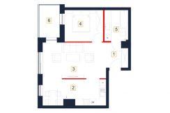 mieszkania rzeszów - rzut mieszkania b109-m