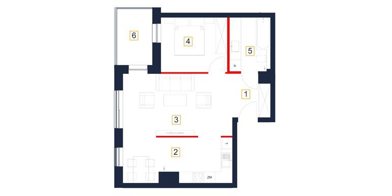 Mieszkanie – 2 pokój – balkon- 43,06 m<sup>2</sup> – Rzeszów