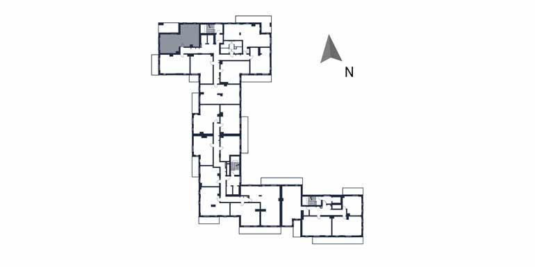 deweloperskie mieszkania rzeszów - rzut kondygnacji z zaznaczonym mieszkaniem  b11-rzut