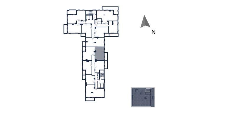 mieszkania rzeszów - rzut kondygnacji z zaznaczonym mieszkaniem  b110-rzut