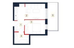 mieszkania rzeszów - rzut mieszkania b111-m