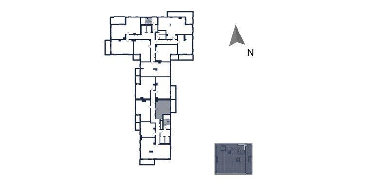mieszkania rzeszów - rzut kondygnacji z zaznaczonym mieszkaniem  b111-rzut