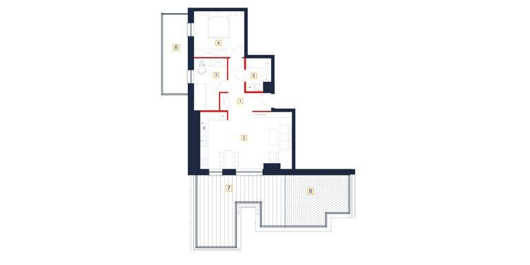mieszkania rzeszów - rzut mieszkania  b112-m