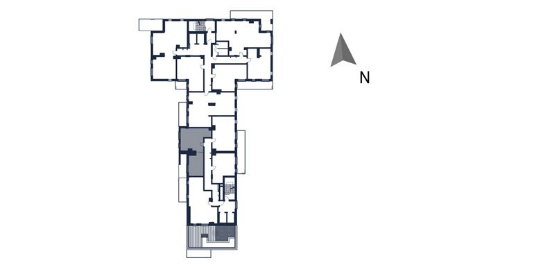 mieszkania rzeszów - rzut kondygnacji z zaznaczonym mieszkaniem  b113-rzut