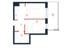 mieszkania rzeszów - rzut mieszkania b115-m