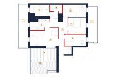 mieszkania rzeszów - rzut mieszkania b116-m