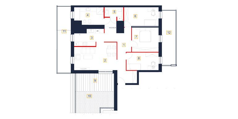 Mieszkanie – 4 pokój – taras- 100,61 m<sup>2</sup> – Rzeszów