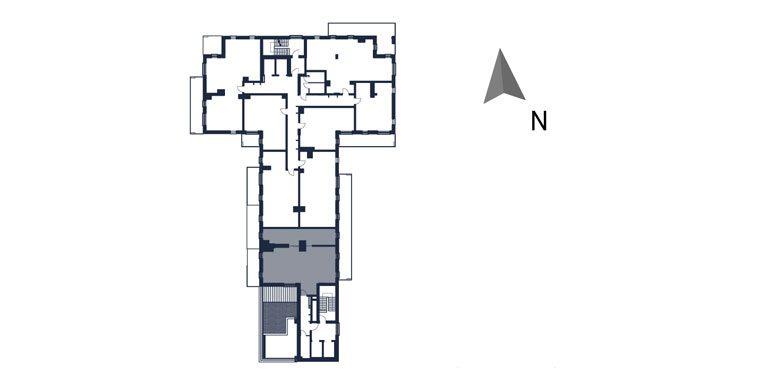 mieszkania rzeszów - rzut kondygnacji z zaznaczonym mieszkaniem  b116-rzut