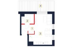 deweloperskie mieszkania rzeszów - rzut mieszkania b117-m