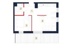 deweloperskie mieszkania rzeszów - rzut mieszkania b118-m